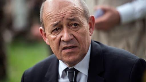 Le ministre de la Défense Jean-Yves Le Drian, ici le 12 février dernier, a annoncé qu'une dizaine de combattants d'Aqmi ont été tués dans la nuit de mardi à mercredi au Mali.