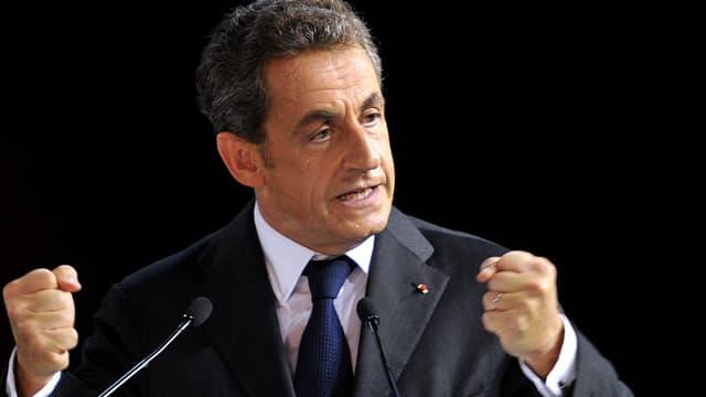 Nicolas Sarkozy a fait un lapsus au sujet de la GPA, ce mercredi, lors d'un meeting à Saint-Cyr-Sur-Loire.