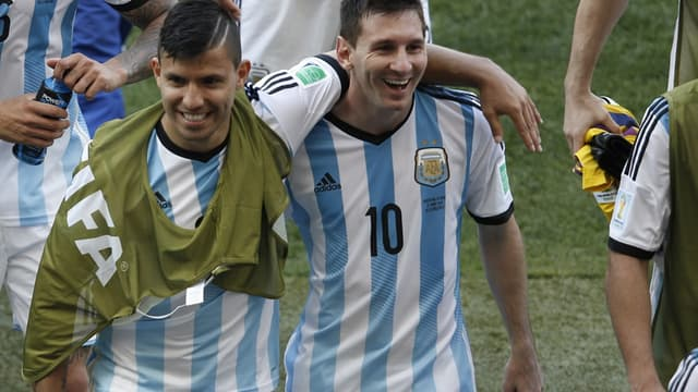 Sergio Agüero et Lionel Messi