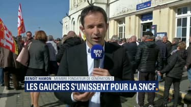 Benoît Hamon au Tréport.