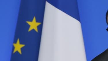 François Hollande à Aysguesvives, dans le sud-ouest de la France.
