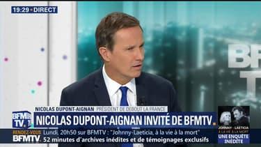 """G6+1: """"Macron fait semblant de s'opposer à Donald Trump"""", estime Nicolas Dupont-Aignan"""