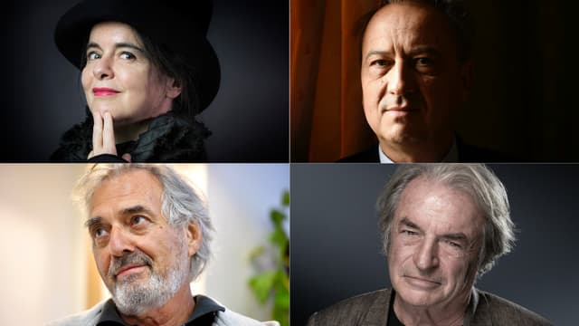 Amélie Nothomb, Jean-Luc Coatalem, Jean-Paul Dubois et Olivier Rolin, les quatres finalistes du prix Goncourt 2019