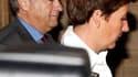 L'ancien dirigeant de Vivendi Jean-Marie Messier (à gauche, au premier jour de son procès mercredi), a assuré vendredi ne pas avoir manipulé les chiffres de sa société entre 2000 et 2002. Il encourt pour les faits qui lui sont reprochés jusqu'à cinq ans d