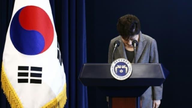 L'ex-présidente de Corée du Sud, le 29 novembre 2016 à Séoul.
