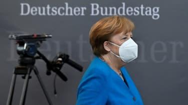 La chancelière allemande Angela Merkel, à Berlin le 23 avril 2021 (photo d'illustration)