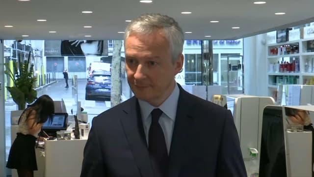 Bruno Le Maire a indiqué avoir accédé aux demandes des petits commerçants de reculer la date de l'ouverture des soldes d'été. .