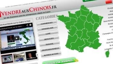Le site vendreauxchinois.fr propose un service de petites annonces payantes à destination des clients chinois.