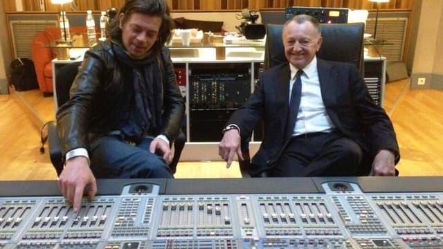 Benjamin Biolay et Jean-Michel Aulas
