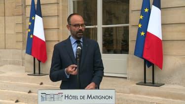 Édouard Philippe ce lundi soir à Matignon.
