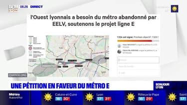 """Le métro E """"abandonné"""" par les écologistes? Une pétition lancée pour soutenir le projet"""