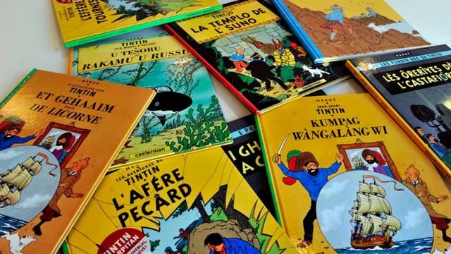 """Un dessin du """"Lotus Bleu"""" de Tintin adjugé pour un million d'euros à Hong Kong"""