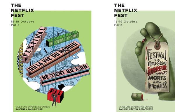 Les affiches du Netflix Fest