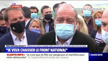 """Régionales dans les Hauts-de-France: pour Éric Dupond-Moretti, """"Xavier Bertrand est un adversaire, il n'est pas un ennemi"""""""