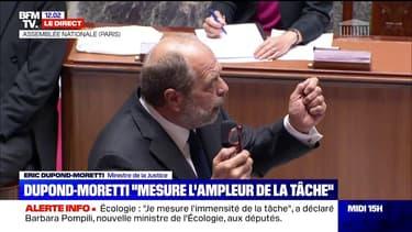 """Éric Dupond-Moretti: """"Je mesure l'ampleur de la tâche et je l'embrasse avec beaucoup d'humilité"""""""