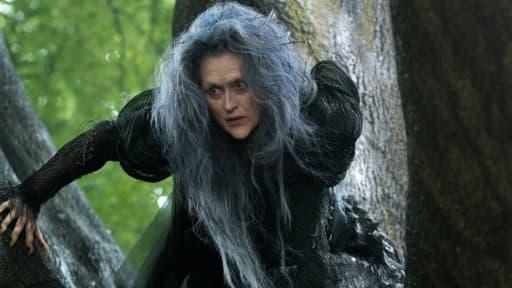 """Meryl Streep en sorcière, dans la prochaine production Disney, """"Into the woods""""."""