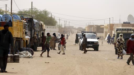Une rue de Kidal en juillet dernier, où les journalistes ont été enlevés samedi.