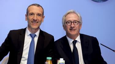 Emmanuel Faber succède à Franck Riboud à la présidence du géant alimentaire.