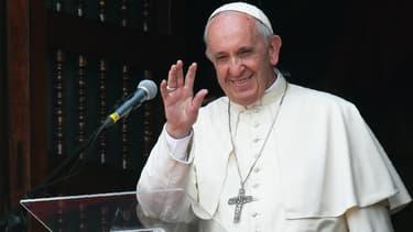 Le pape François lors de son voyage au Pérou en 2018