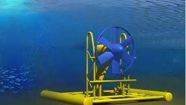 En matière d'hydrolien, le potentiel est équivalent à 2-3 réacteurs nucléaires (hydrolienne développée par Savella dans le cadre d'un projet Ademe)