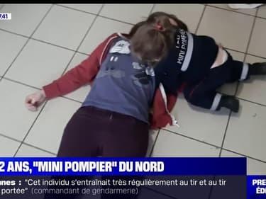 """Léa, deux ans et """"mini pompier"""" du Nord"""