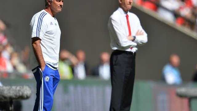 José Mourinho et Arsène Wenger