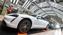 L'usine Porsche près de Stuttgart (Allemagne) où est assemblée la Taycan.