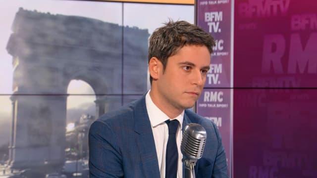 Gabriel Attal, invité de BFMTV-RMC mercredi 26 février 2020.