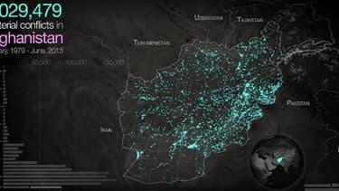 En utilisant des bases de données recensant les incidents, des chercheurs américains ont dressé une carte anticipant les futures violences à venir en Afghanistan.