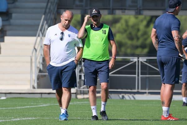 Philippe Saint-André en discussions avec Alexandre Ruiz