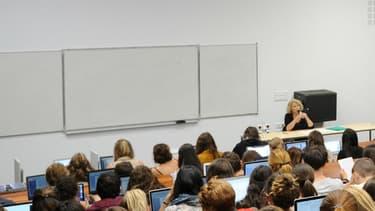 Des étudiants de l'université Paul-Valéry Montpellier 3, le 28 septembre 2015.