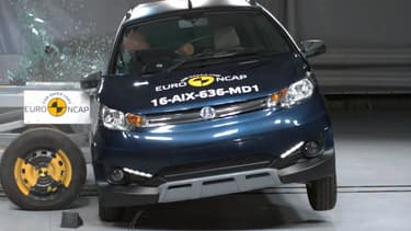 """L""""Axiam Crossover GTR 2016 offre la plus mauvaise sécurité conducteur des voiturettes testées."""