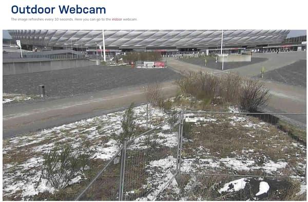 La webcam à l'extérieur de l'Allianz Arena