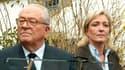 Jean-Marie Le Pen et sa fille Marine, actuelle présidente du FN.