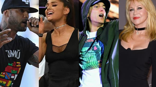 Booba, Ariana Grande, Eminem et Melanie Griffith.