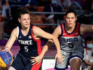 Marie-Eve Paget de l'équipe de France du basket 3x3
