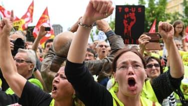 Une manifestation de Gilets jaunes (photo d'illustration)