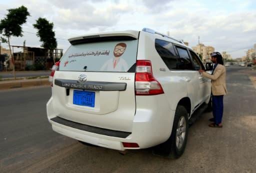 La voiture du Dr Sami Yahya al-Hajj, à Sanaa, au Yémen, le 2 juin 2020
