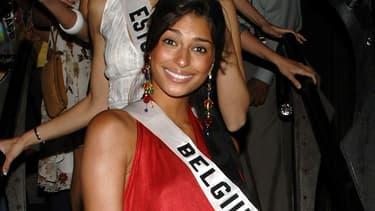 Tatiana Silva, Miss Belgique, lors du concours Miss Univers à Los Angeles en 2006
