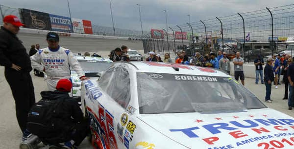Le milieu NASCAR a fortement soutenu Trump pendant la campagne.