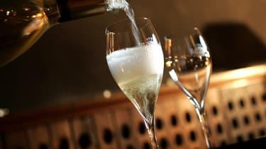 Les ventes de bouteilles de champagne ont permis d'enregistrer un chiffre d'affaires record.