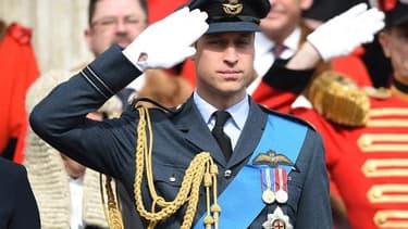 Le prince William, le 13 mars 2015 devant la cathédrale St Paul, à Londres