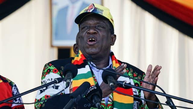 Réunion électorale du président zimbabwéen Emmerson Mnangagwa, le 23 juin 2018