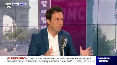 """Guillaume Peltier (LR) pense que Macron devrait """"annoncer la création  d'un service militaire obligatoire pour les mineurs délinquants récidivistes"""""""