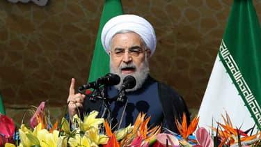 Le président iranien Hassan Rohani à Téhéran, le 11 février 2016