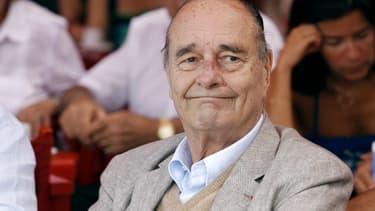 Jacques Chirac à Saint-Tropez, en août 2011.