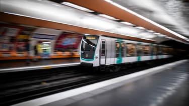Un métro parisien (photo d'illustration)