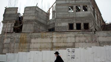 Un logement en construction dans le quartier de Ramat Shlomo, à Jerusalem-Est, photographié le 5 juin 2014.