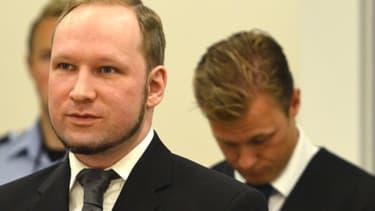 Anders Breivik, lors de son procès. -