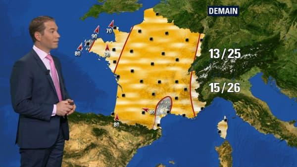 Prévisions Météo France pour le samedi 13 octobre.